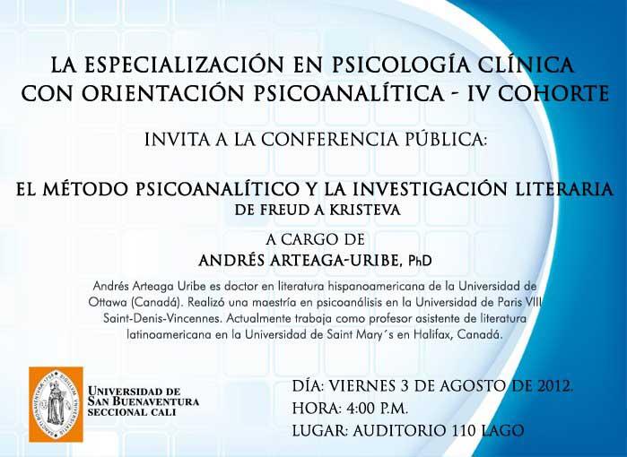 Conferencia gratuita de psicología en Cali