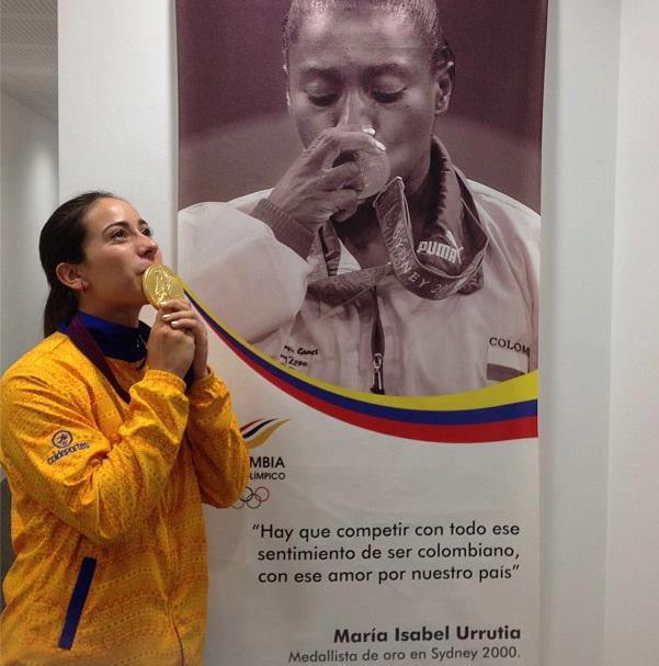 Oro olímpico colombiano solo conoce labios femeninos