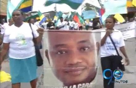 Habitantes de Quibdó apoyan al suspendido Gobernador del Chocó