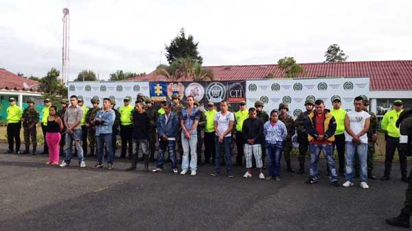 Operativos en El Palo, Cauca, dejan 12 capturados