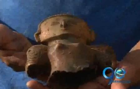 Saqueo a vestigios de la cultura Malagana en Palmira