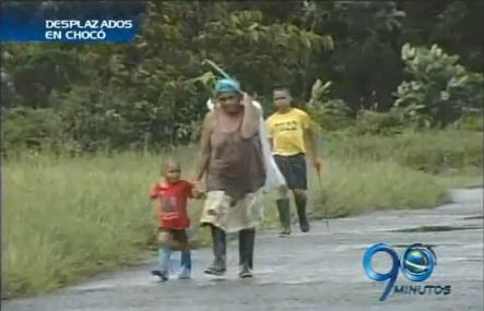 Cada vez llegan más desplazados al occidente del Chocó