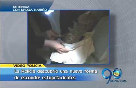 Mujer detenida con droga en Nariño
