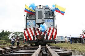 Presidente Santos inauguró el Ferrocarril del Pacífico