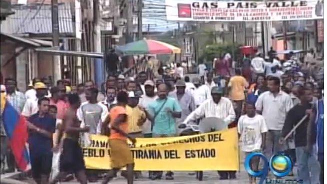 Habitantes de Suárez, Cauca marchan contra los violentos