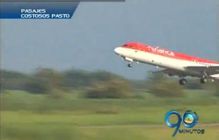 En Pasto se quejan por el alto costo de los pasajes aéreos