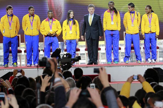 Colombia le da la bienvenida a sus héroes
