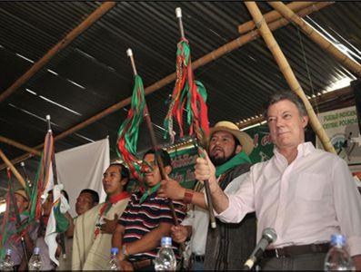 Santos le pidió perdón a los indígenas del Cauca