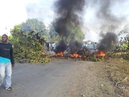 Protestas en Guachené