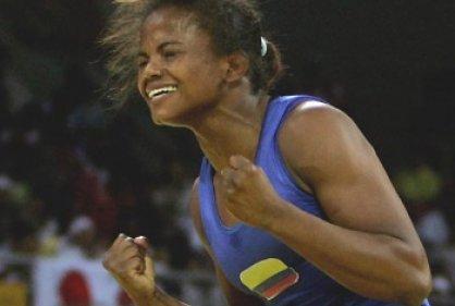 Jackeline Rentería ganó medalla de bronce en lucha