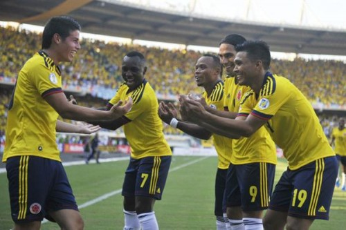 Colombia apabulló 4-0 a Uruguay en Barranquilla