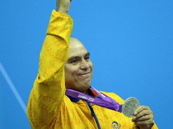 Colombiano Moisés Fuentes ganó medalla de plata en los paralímpicos de Londres 2012
