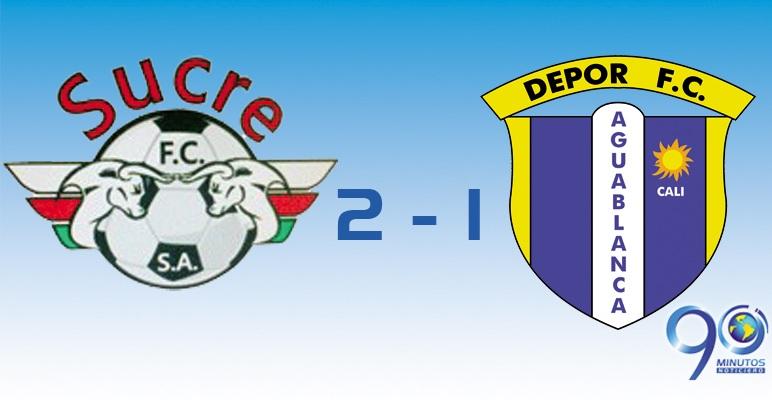 Dépor Aguablanca no pudo vencer al Sucre