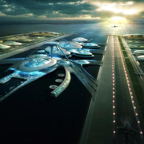 Firma de arquitectos propone aeropuerto flotante sobre el río Támesis, en Londres