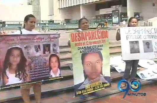 Marcha de familiares de víctimas de desaparición forzada
