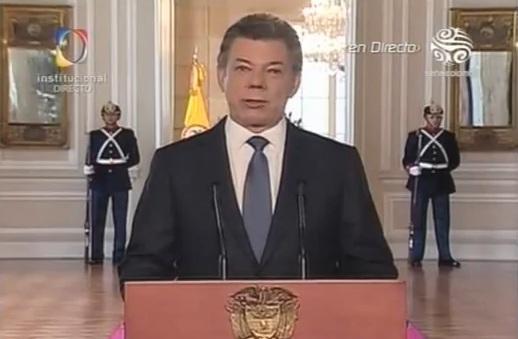 """""""Ya existe un acuerdo firmado para dialogar con las Farc"""", Santos"""