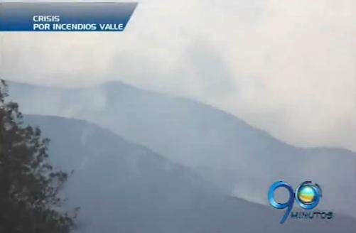 Gigantesco incendio forestal en zona rural de Jamundí