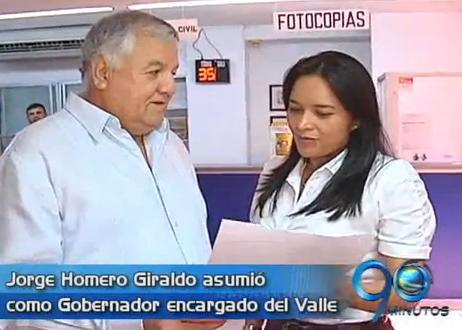 Jorge Homero Giraldo asumió como Gobernador encargado del Valle del Cauca