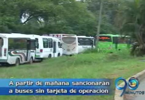 A partir de mañana sancionarán a buses sin tarjeta de operación