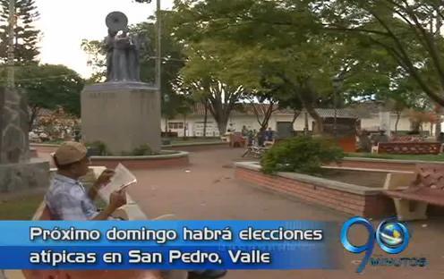 Elecciones atípicas en San Pedro, Valle, este domingo 23 de septiembre
