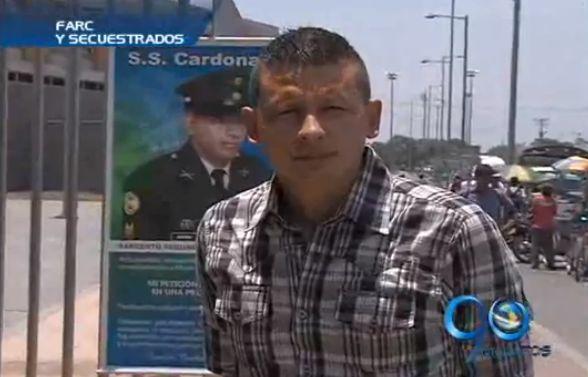 Familiares de militar secuestrado por las Farc también esperan noticias