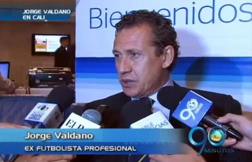 La figura argentina Jorge Valdano llegó a la capital Vallecaucana
