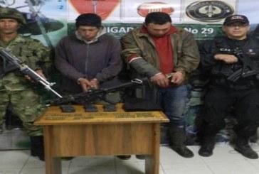Dos integrantes  de la Columna Móvil Jacobo Arenas de las FARC se entregaron  en Miranda Cauca.