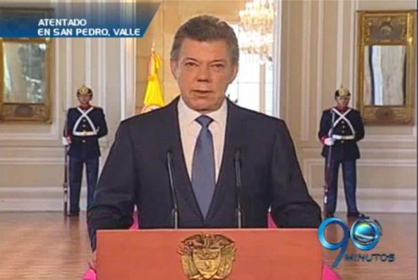 Santos había pedido templanza ante violencia de las Farc