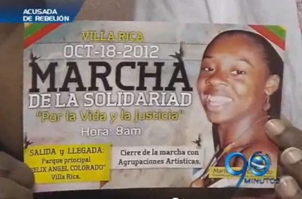 Líder comunal de Villa Rica acusada de ser guerrillera