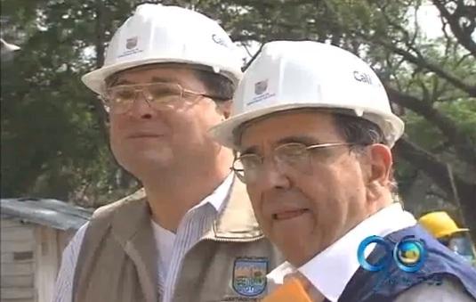 Alcalde de Cali inspeccionó obras de hundimiento de la Avenida Colombia