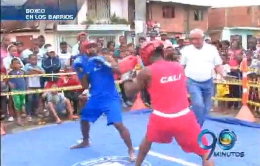 Se cumplió en las calles del oriente de Cali una jornada de boxeo juvenil