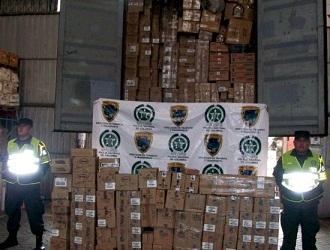 Decomisan gran cantidad de mercancía de contrabando en la frontera colombo- ecuatoriana