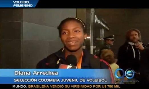 Diana Arrechea, la mejor jugadora del suramericano de voleibol