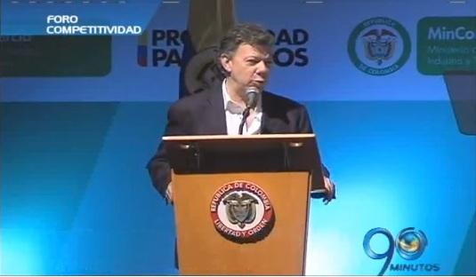 Presidente Santos en Foro de Competitividad