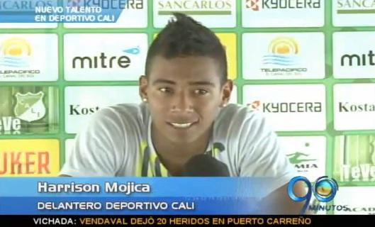El juvenil Hárrison Mojica, nuevo talento en la delantera del Cali