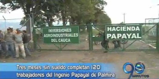 Tres meses sin pago, completaron trabajadores de un ingenio en Palmira