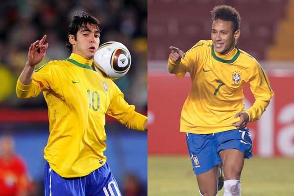 Kaká y Neymar, convocados en Brasil para el juego ante Colombia