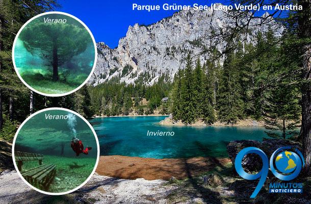 Parque en Austria se convierte en lago