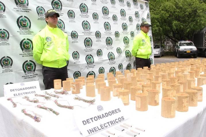 Policía incauto material explosivo en zona rural de Jamundí, La pentolita  seria usada para  realizar atentados terroristas.