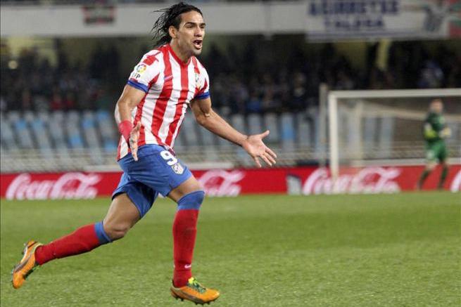 Un golazo del 'Tigre' Falcao le dio la victoria al Atlético de Madrid