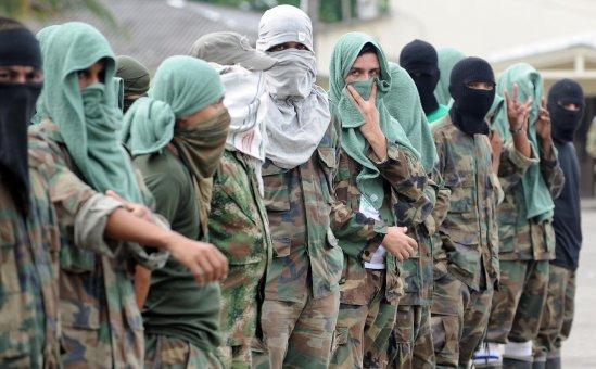Se entregaron 17 miembros de 'Los Rastrojos' en Buga