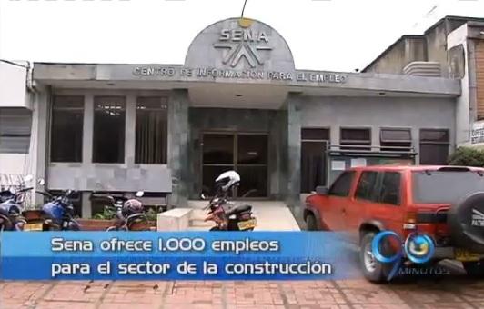 Sena ofrece 1 000 empleos para el sector de la construcción