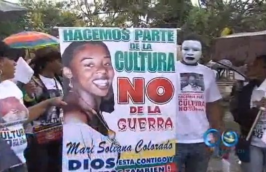 Marcha en Villarrica en apoyo a líder comunitaria
