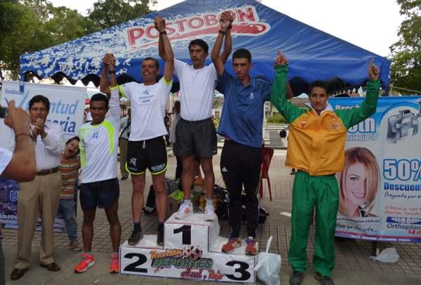 John Jairo Salazar fue primero en la carrera atlética 'Día de la Raza' de Buga