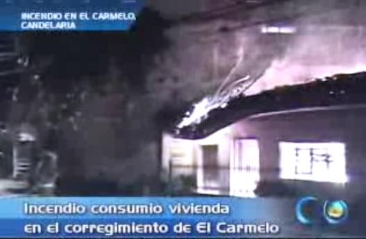 Incendio destruyó una vivienda en El Carmelo, Candelaria