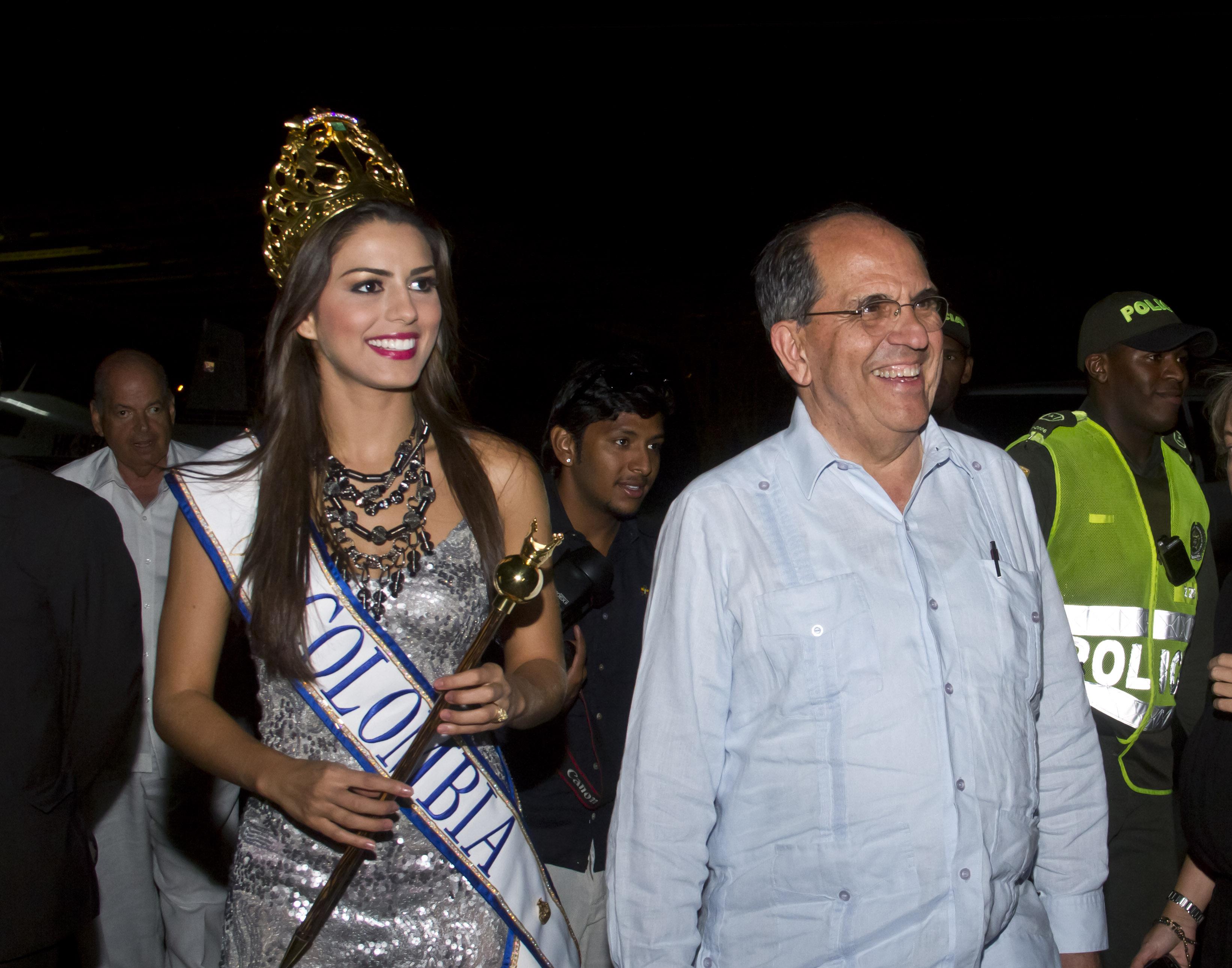 La señorita Colombia llegó al lanzamiento de la Feria de Cali