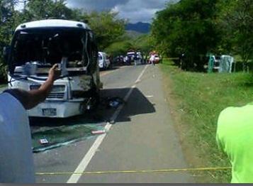 Accidente en la vía Panamericana deja 18 niños heridos