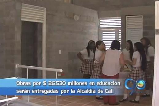 Alcaldía de Cali adelanta obras en 20 planteles educativos