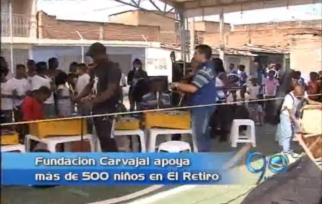 Fundación Carvajal apoya más de 500 niños del barrio El Retiro