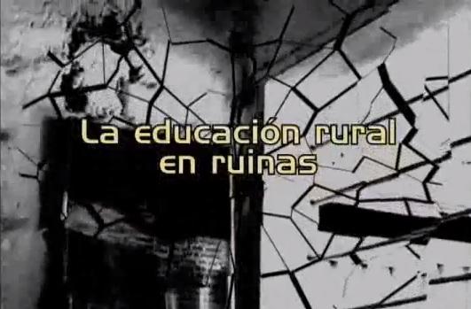 Escuelas rurales en ruinas